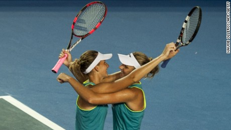 The Pliskova twins are both former junior champions.