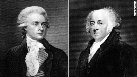 Republican President Thomas Jefferson and his predecessor, Federalist President John Adams
