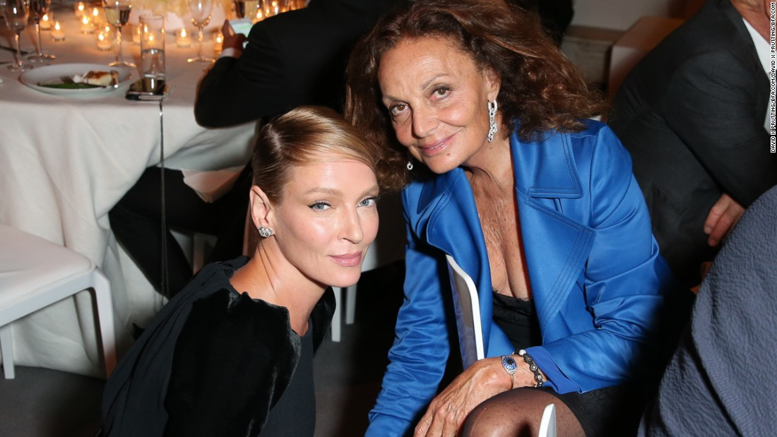 Uma Thurman and Diane Von Furstenberg