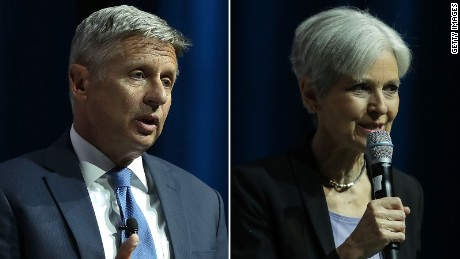 Gary Johnson, Jill Stein don't qualify for first debate