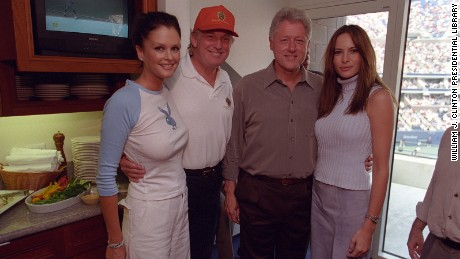 Old pals: Donald Trump and Bill Clinton