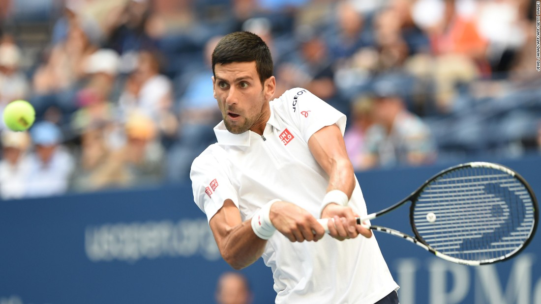 Novak Djokovic beat Gael Monfils in four sets to make a seventh US Open final.