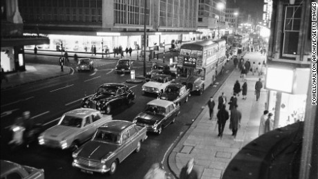 Oxford Street in the 1960s. But the age of urban car use may be ending.