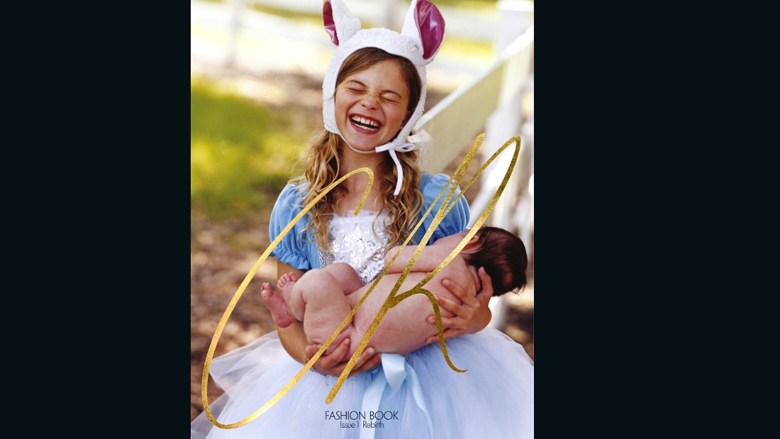 The cover shoot by Bruce Weber was meant to emulate a modern nursery rhyme.