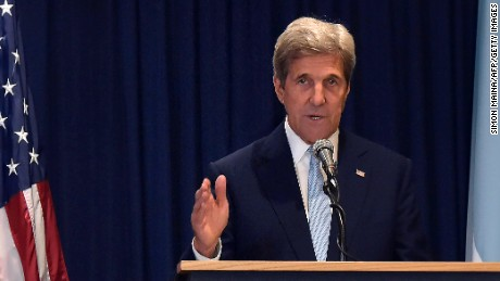 US Secretary of State John Kerry pictured in  August 2016.