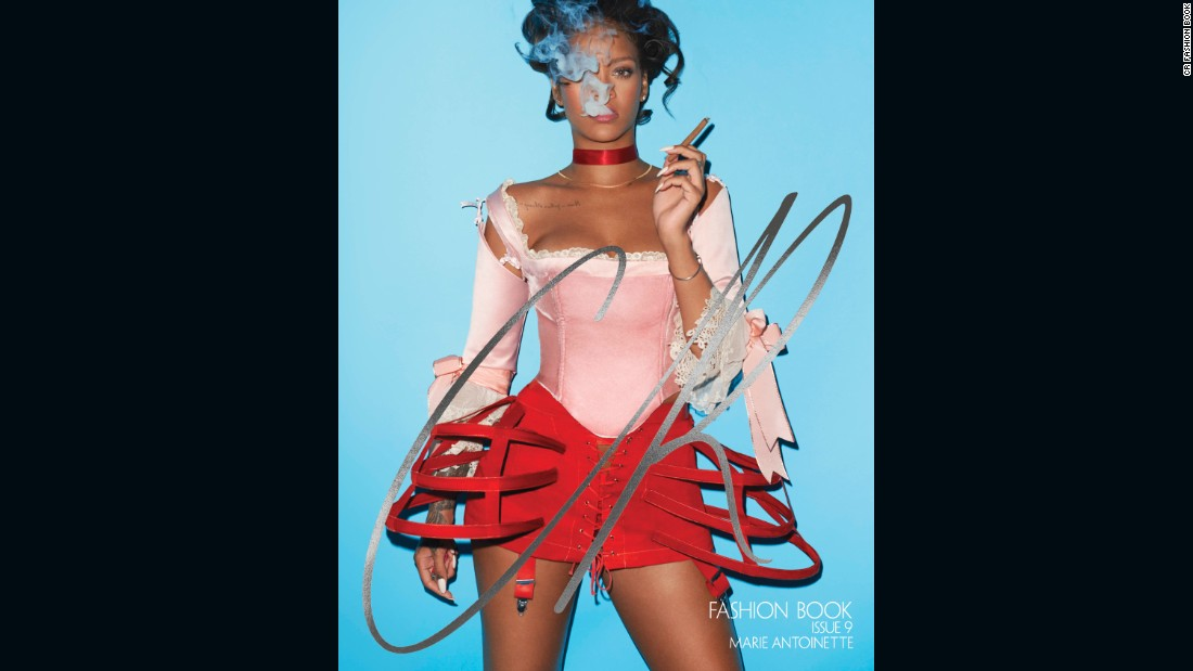 Rihanna stars on the cover of CR Fashion Book's latest issue interpreting a modern Marie Antoinette.