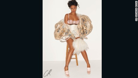 An exclusive image from Rihanna's shoot in the latest issue of CR Fashion Book.