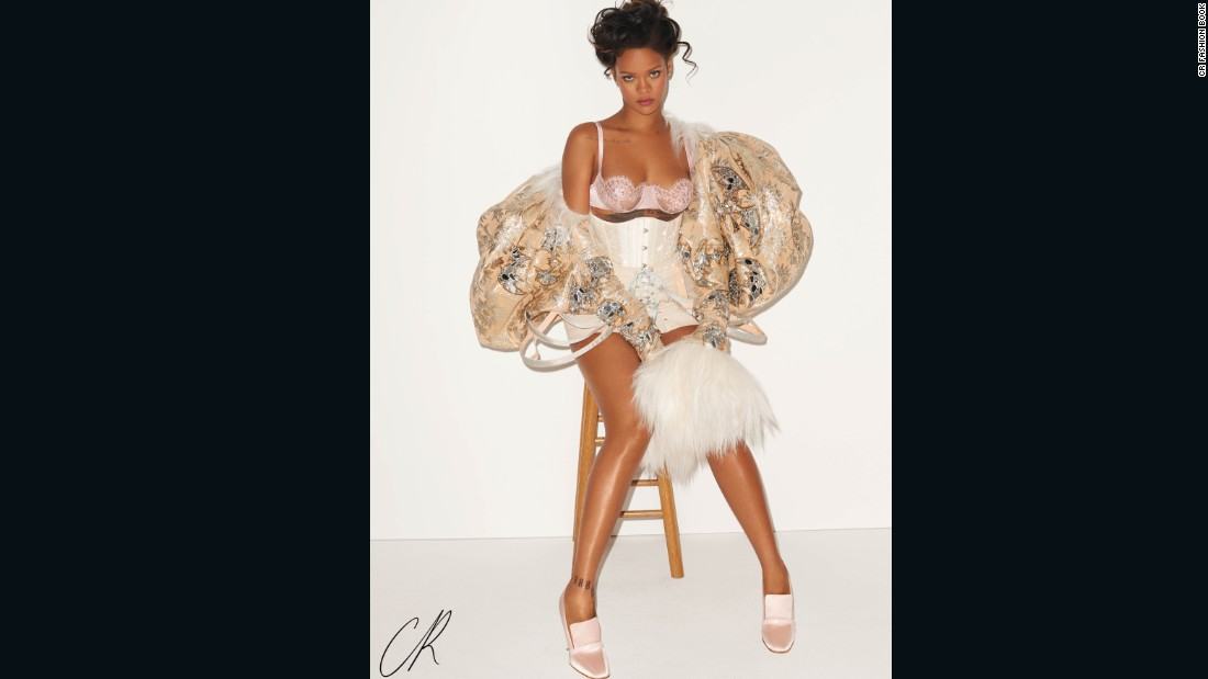 An exclusive image from inside the CR Fashion book shoot with Rihanna.