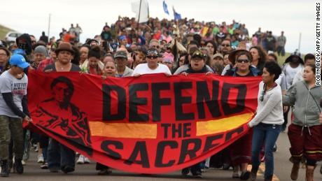 North Dakota oil pipeline protests