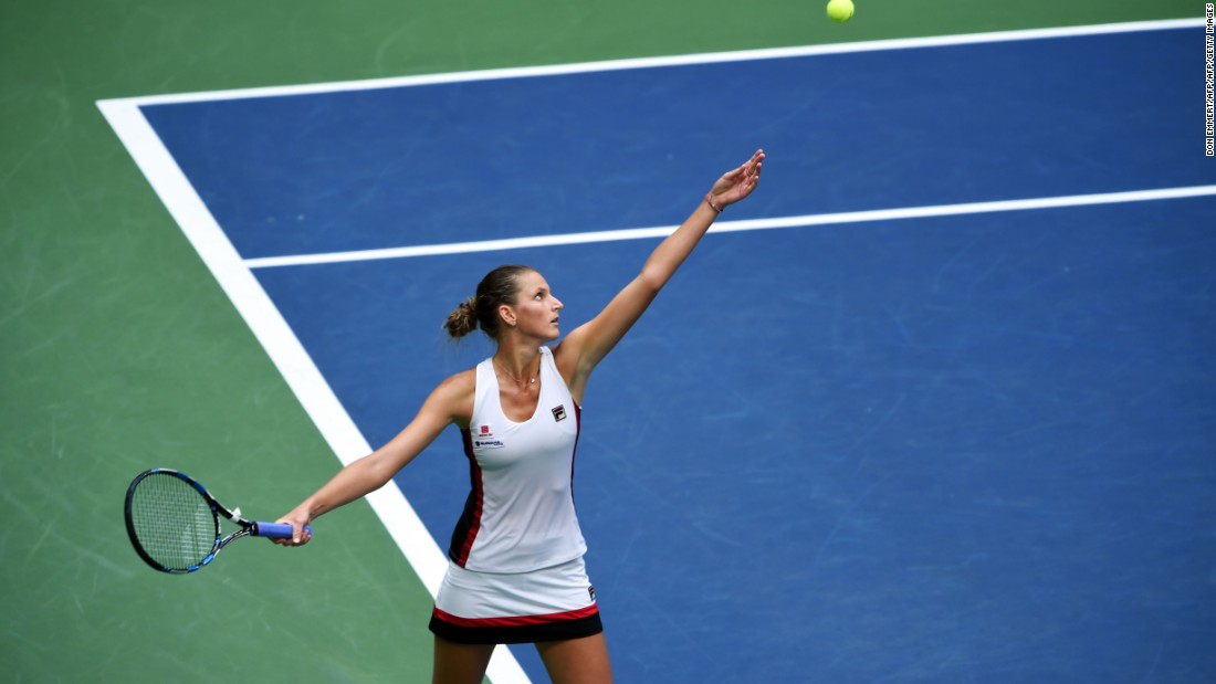 Pliskova was getting her chances but couldn't break through on the big points.