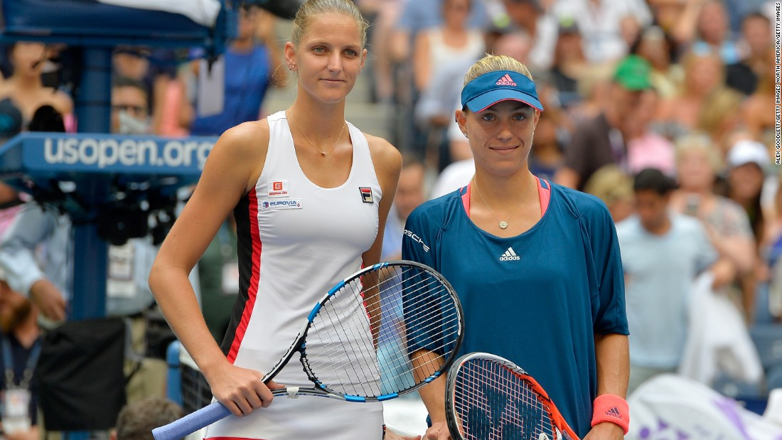 Karolina Pliskova, left, faced Angelique Kerber in the US Open final. Pliskova played in her first grand slam final while it was the third major final for the German this year.