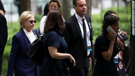 Clinton not feeling well, leaves 9/11 event early