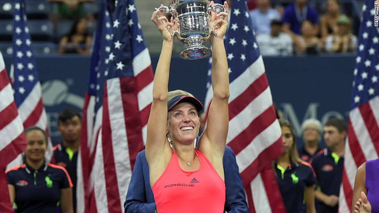 Angelique Kerber 2016 US Open SPORTS James Blake _00002105