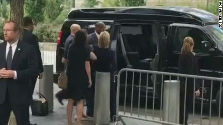 Video shows Clinton stumble before illness revealed