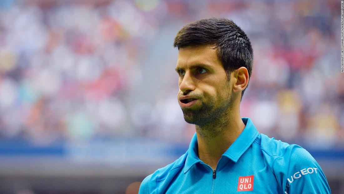 Djokovic was now in difficulty. He dropped serve to end the second set. Then he dropped serve to end the third.