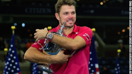 NEW YORK, NY - SEPTEMBER 11:  Stan Wawrinka of Switzerland celebrates with the trophy after winning 6-7, 6-4, 7-5, 6-3 against Novak Djokovic of Serbia during their Men's Singles Final Match on Day Fourteen of the 2016 US Open at the USTA Billie Jean King National Tennis Center on September 11, 2016 in the Queens borough of New York City.  (Photo by Chris Trotman/Getty Images for USTA)