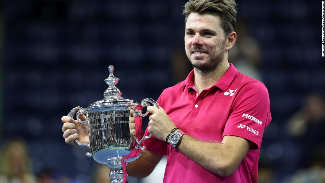 And Wawrinka would later be lifting the trophy.