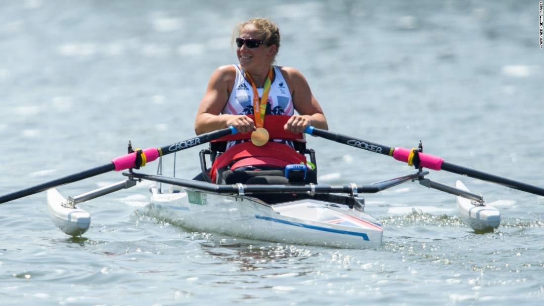 Rachel Morris sparked a gold rush for Team GB on the lake this morning, winning the women's arm-only single sculls (ASW1x). That was followed up by two more golds in the mixed double sculls and the mixed coxed four.