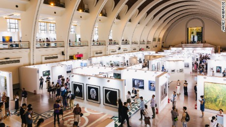 PHOTOFAIRS Shanghai was held this year at the Shanghai Exhibition Center, a massive Stalinist neoclassical hall in one of the city's most high-end districts. This year, 27,000 visitors came to see 50 galleries from 15 countries.