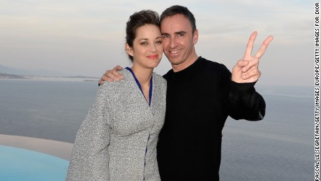 Raf Simons with Marion Cotillard in 2015