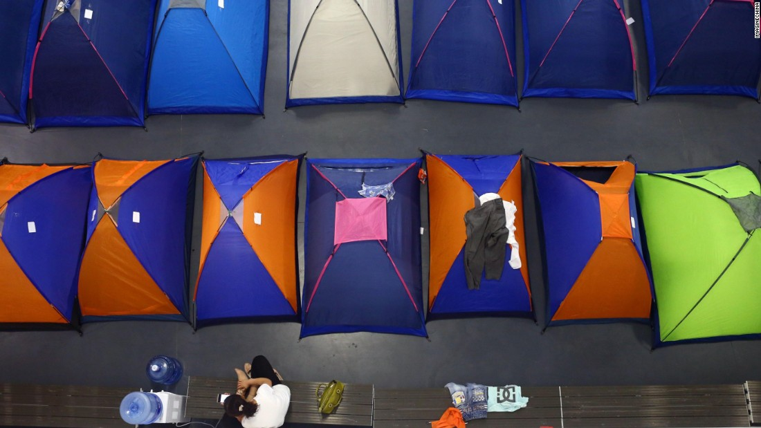 "For the past five years, Tianjin University in northern China has provided free accommodation for parents in what it calls ""tents of love."""