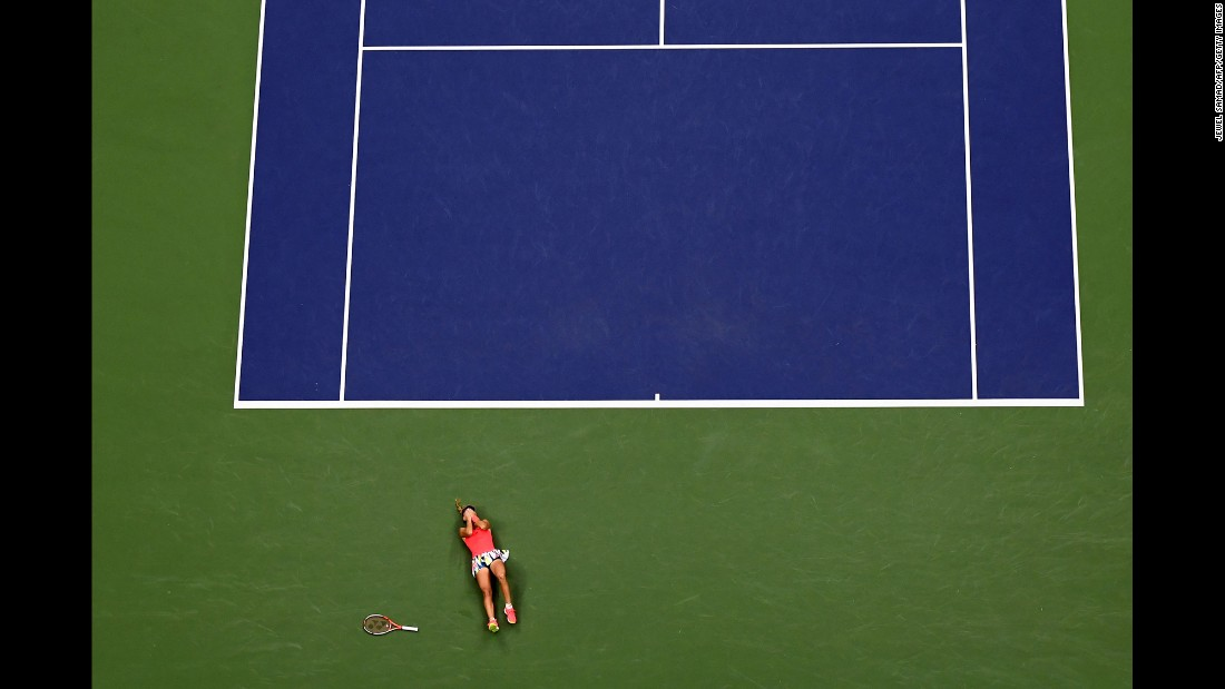"Angelique Kerber reacts after defeating Karolina Pliskova in the US Open final match in New York on Saturday, September 10. Kerber's win <a href=""http://edition.cnn.com/2016/09/11/sport/kerber-interview-us-open-river/"" target=""_blank"">makes her the new world No. 1.</a>"