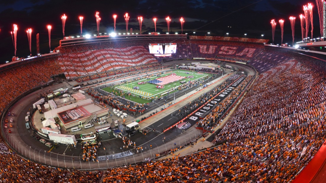 "The Bristol Motor Speedway in Bristol, Tennessee, is seen before a game between Virginia Tech and Tennessee on Saturday, September 10. Tennessee won 45-24. <a href=""http://www.cnn.com/2016/09/06/sport/gallery/what-a-shot-sports-0906/index.html"" target=""_blank"">See 27 amazing sports photos from last week</a>"