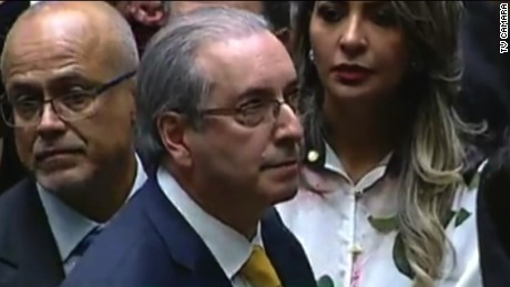 Eduardo Cunha is the former speaker of Brazil's Chamber of Deputies.
