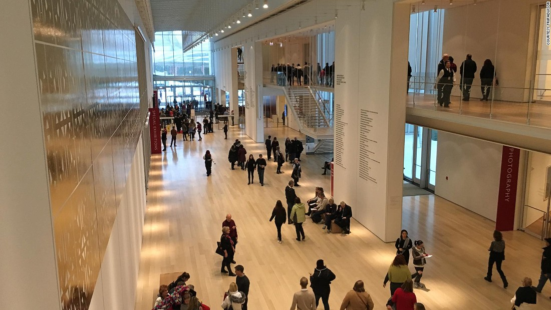 """In second place is the Art Institute of Chicago, famous for its encyclopaedic collection -- which includes Grant Wood's painting """"American Gothic."""" The museum makes a famous cameo in John Hughes 1986 teen classic """"Ferris Bueller's Day Off"""" -- and remains as popular in 2016."""
