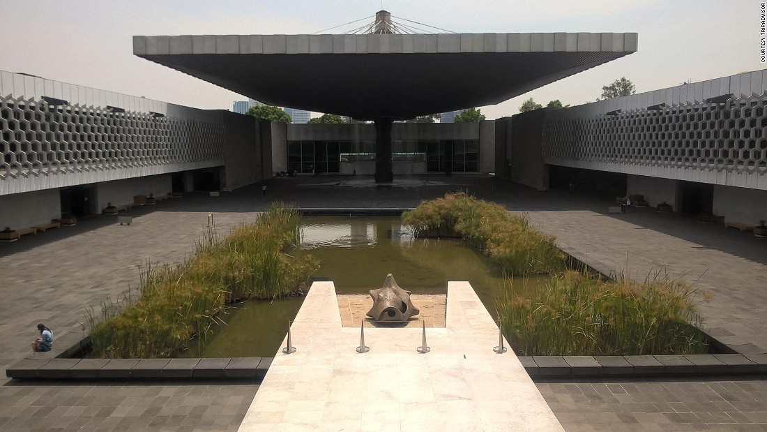 Mexico's largest museum, the Museo Nacional de Antropologia, takes the number five spot in TripAdvisor's list. Famous for its archaeological and anthropological artifacts dating from Mexico's pre-Columbian heritage, the museum's collection includes the Stone of the Sun and a room dedicated to Mayan culture.