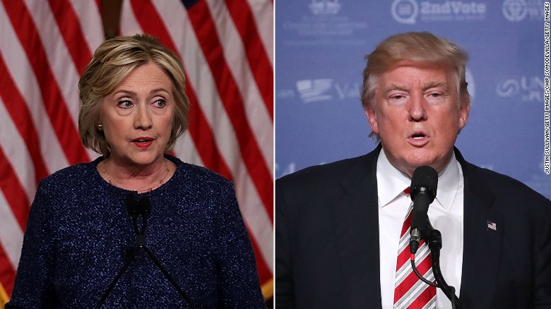 How did Trump, Clinton differ in terror attack response?