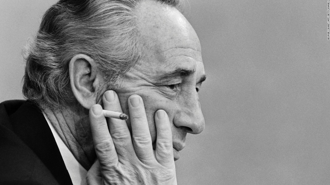 Israeli Labor Party leader Shimon Peres in Paris in 1981. He chaired the left-leaning party until 1992.
