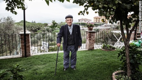 "At 103, Vincenzo Baratta says eating once a day and having ""a lot of women in his life"" keeps him young."
