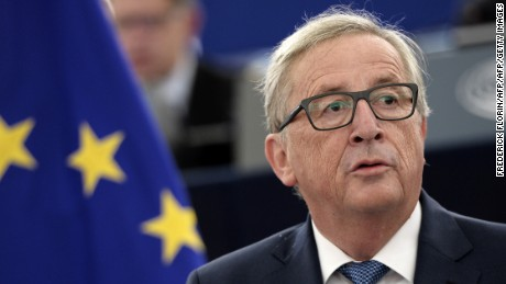 EU chief Jean-Claude Juncker delivers his State of the Union address.
