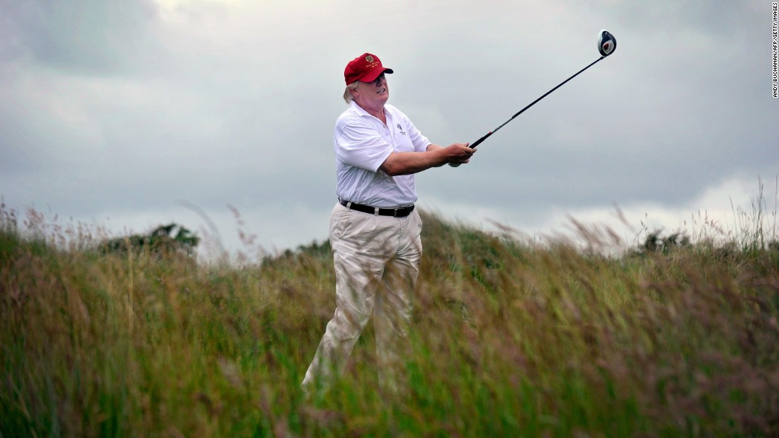 photo image Trump, critic of Obama's golfing, regularly hits the links