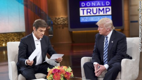 Trump doesn't exercise, and other things we've learned from the Dr. Oz interview