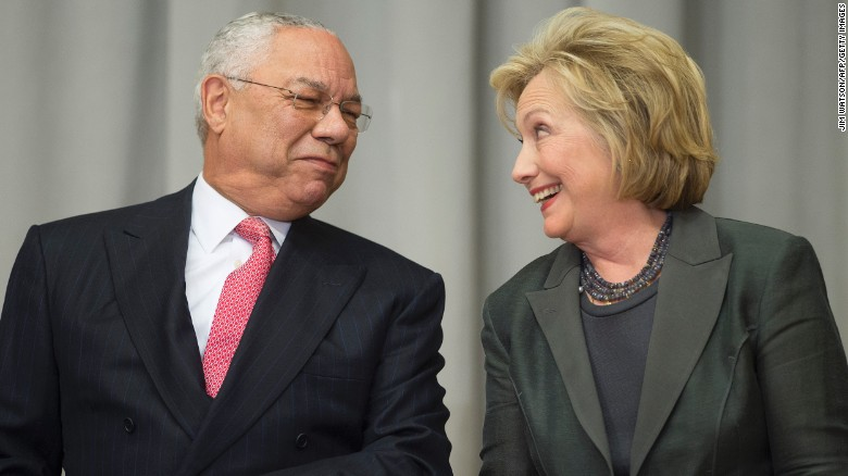 Colin Powell says he will vote for Hillary Clinton
