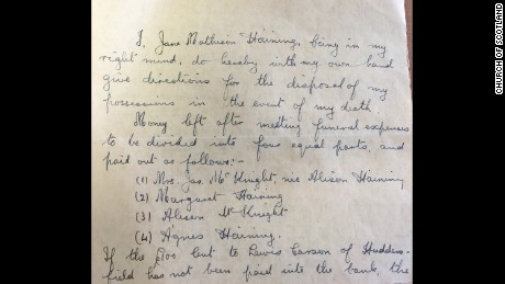 Haining's will, written in 1942,  shows she was well aware of the fact she was risking her life for the  girls