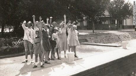 Jane Haining and her girls having fun on Lake Balaton before the darkness of the Second World War
