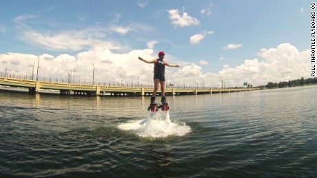 For about $100, flyboard flights generate adrenaline.