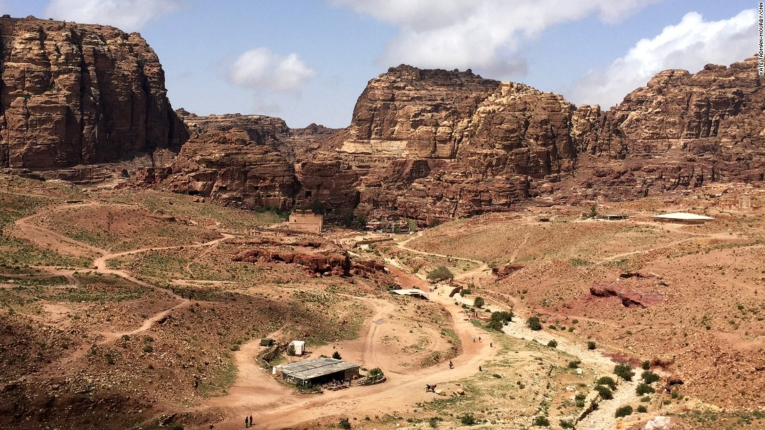 A view from the Royal Tombs. Despite its relative tranquility, Jordan's tourism industry has been hit by the 2010 Arab Spring and civil war in Syria.