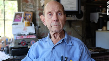 """It's depressing to watch the population disappear, the businesses disappear and the activity stop. Back in the 50s, 60s and 70s, it was hard to walk up the sidewalk because there was so many people. Now you walk up the sidewalk and there's nobody."" -- Ed Shepard, 93."