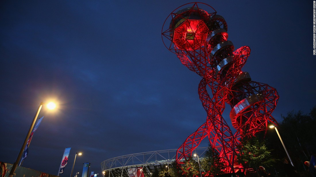 "For the first time all 114.5 meters (1232 feet) of Anish Kapoor's red steel sculpture will be part of Open House London, complete with its <a href=""http://edition.cnn.com/2016/04/28/design/worlds-tallest-longest-tunnel-slide/"">newly opened and fully operational slide</a>. Fun fact: The sculpture used enough steel to make 265 double-decker buses."