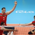 Morteza Mehrzadselakjani sitting volleyball Rio point