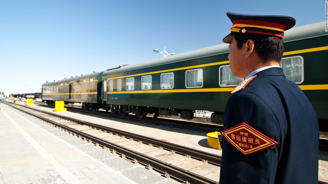 The Tsar's Gold is a 160-passenger luxury train tour that runs for 16 days in summer months. Carriages are decorated in Tsarist style drapes and blankets. Chandelier-lit four-course dinners are served on board.