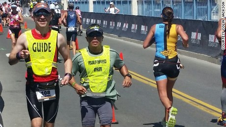 Kona Ironman more than a race for blind triathlete Michael Somsan
