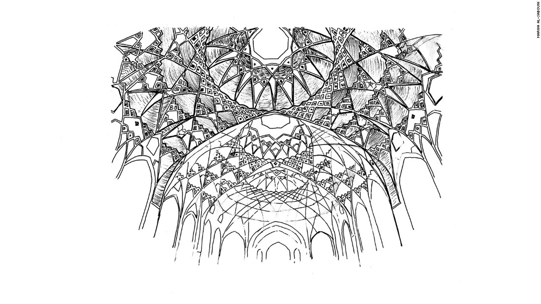 An Islamic-style rib vault