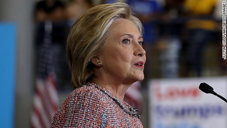 Hillary Clinton speaks during a campaign rally at UNC Greensboro on September 15, 2016 in Greensboro, North Carolina.