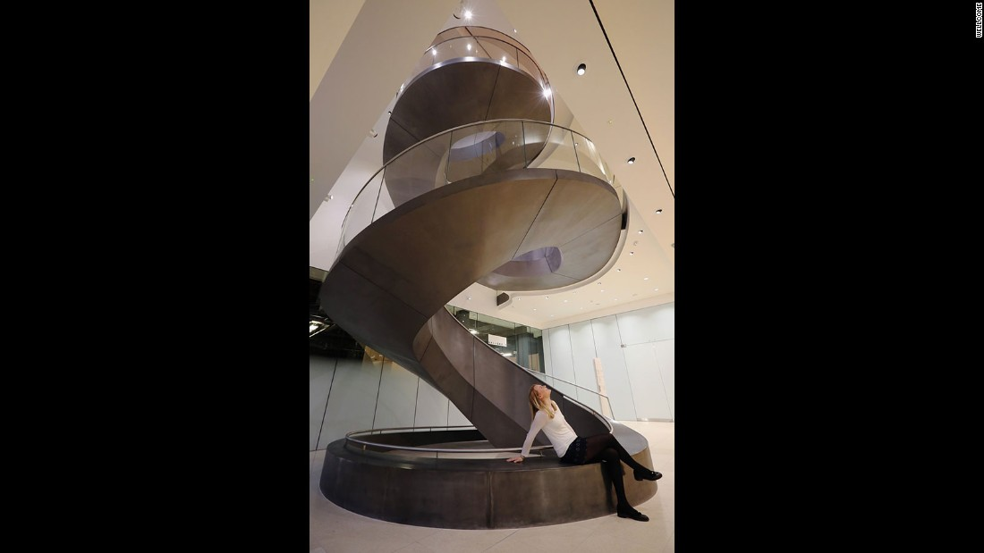 In London, the Wellcome Collection's showpiece staircase cost 1.1 million pounds ($1.5 million) and was designed by Wilkinson Eyre.