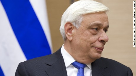 Greek President Prokopis Pavlopoulos attends a meeting with his Russian counterpart at the Novo-Ogaryovo residence outside Moscow on January 15, 2016. AFP PHOTO / POOL / IVAN SEKRETAREV / AFP / POOL / IVAN SEKRETAREV        (Photo credit should read IVAN SEKRETAREV/AFP/Getty Images)